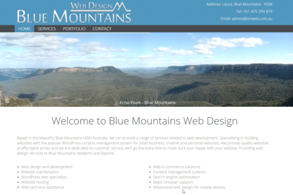 Blue Mountains Web Design